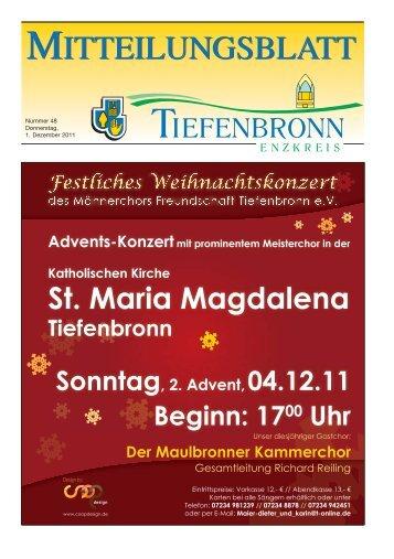Mitteilungsblatt KW 48 - Tiefenbronn