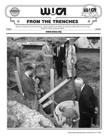 2009 Fall (PDF) - Wisconsin Underground Contractors Association