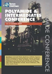 POLYAMIDE & INTERMEDIATES CONFERENCE - FiberSource