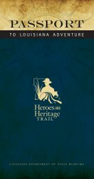 Heroes and Heritage Trail - Secretary of State - Louisiana