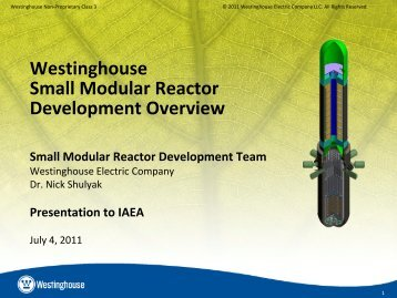 Westinghouse Small Modular Reactor Development Overview - UxC
