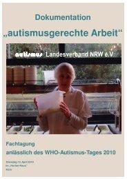 Übersicht der Veranstaltung und Grußworte - autismus NRW e.V.