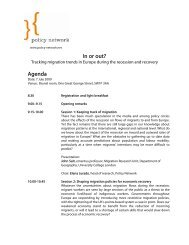 SEPTEMBER SEMINAR ON SOCIAL DEMOCRACY - Policy Network