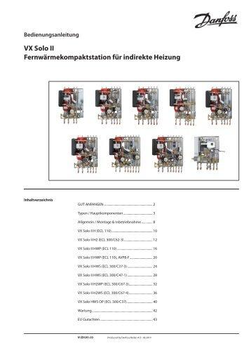 VX Solo II HWS (ECL 210/A247) Indirekte ... - Danfoss GmbH