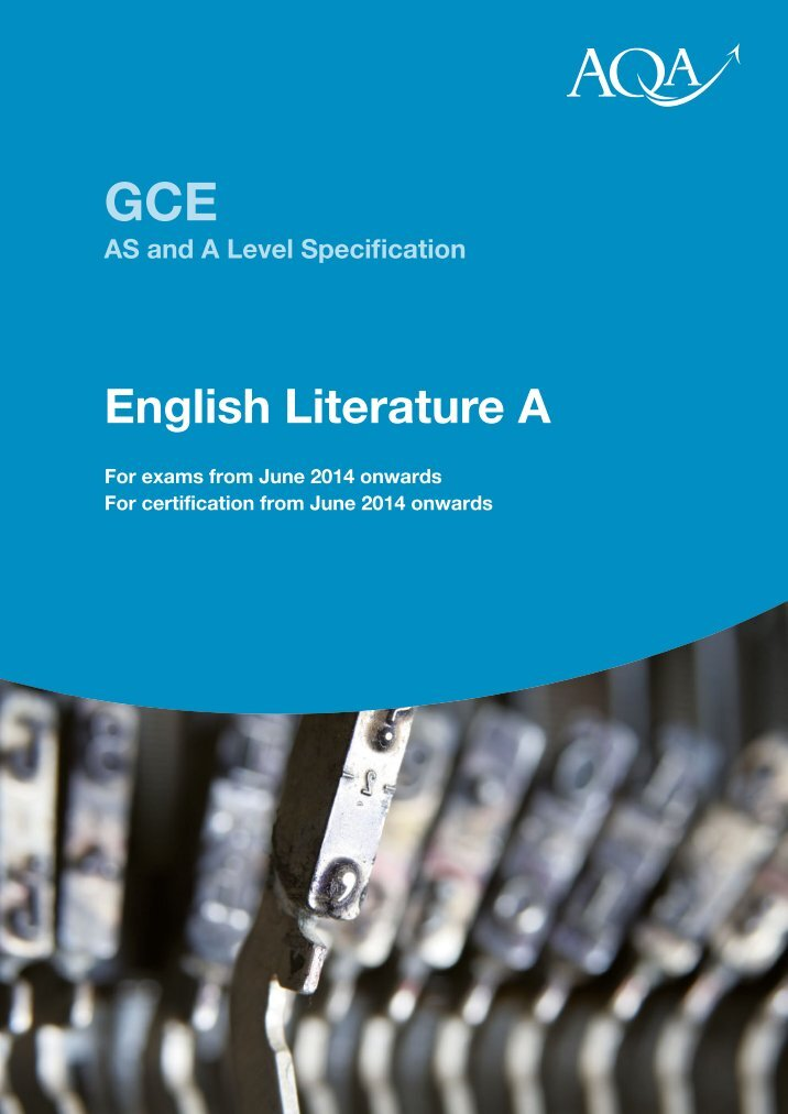 aqa english lit b a2 coursework Below is an example of the type of essay you will have to write when it comes to your coursework for english literature b aqa for this piece of coursework, i got an a.