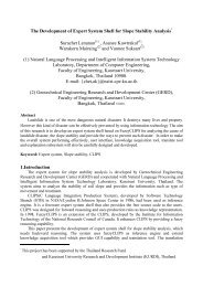 The Development of Expert System Shell for Slope Stability ... - NAiST