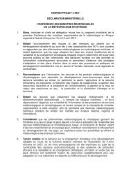 Déclaration ministérielle issue de la Conférence des ministres ...