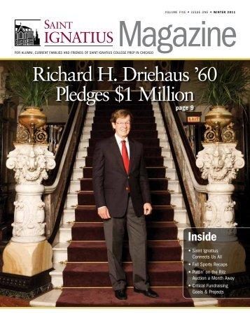 Richard H. Driehaus '60 Pledges $1 Million - St. Ignatius College Prep