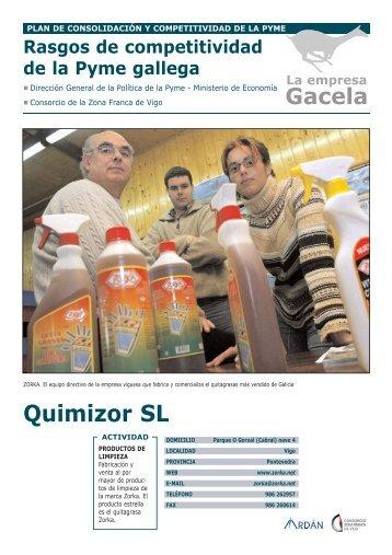 Reportaje: QUIMIZOR, S.L.: Empresa Gacela - Ardan