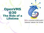 OpenVMS @30 - Operating Systems and Middleware Group