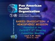 RABIES ERADICATION: A HEMISPHERIC MISSION CaribVET 4th ...