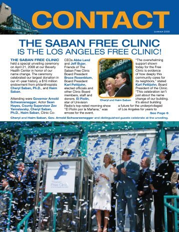 jeff bujer - The Saban Free Clinic