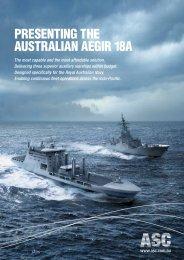 PRESENTiNg THE AUSTRALiAN AEgiR 18A - ASC