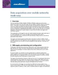 Data acquisition over mobile networks made easy