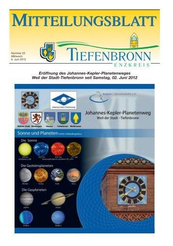 Mitteilungsblatt KW 23/2012 - Tiefenbronn