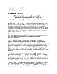 press release - Ford Theatres