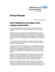 Kent Healthcare providers form unique partnership - Maidstone and ...