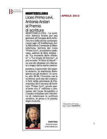 1 Rassegna Stampa   mese di APRILE 2013 - Biblioteca Comunale ...