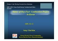 Status of Oxy-Fuel Combustion Project in Korea - Expert Group on ...