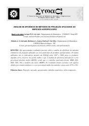 Análise de Eficiência de Métodos de Projeção Aplicados - UNEMAT