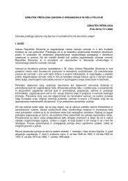 OSNUTEK PREDLOGA ZAKONA O ORGANIZACIJI IN DELU ...