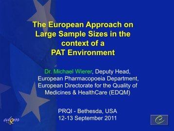 From Ph. Eur. to EDQM - PQRI