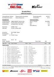 Kombi-Race - Tiroler Skiverband
