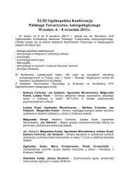 XLIII Ogólnopolska Konferencja Polskiego Towarzystwa ...