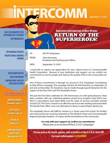 CHC Intercomm September 15, 2010 - The Medical Center at Franklin