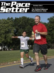 October 2012 - Hudson Mohawk Road Runners Club