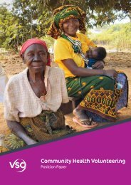 VSO and Community Health Volunteering - Position paper (summary)
