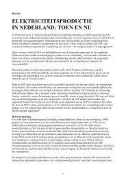elektriciteitsproductie in nederland; toen en nu - De geschiedenis ...
