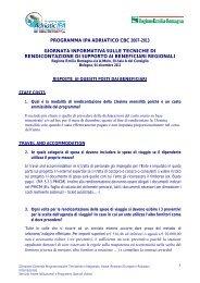 Risposte ai quesiti posti dai Beneficiari - Fondi Europei 2007-2013