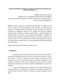 ANÁLISE ERGONÔMICA POSTURAL DO POSTO DE TRABALHO ...