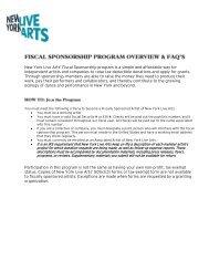 FAQs - New York Live Arts