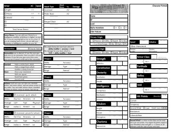 earthdawn character sheet