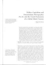 Welfare Capitalism and Documentary Photography - Toronto ...