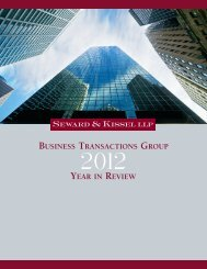 Business Transactions Group 2012 Year in Review - Seward and ...