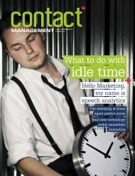 What to do with idle time - Contact Management