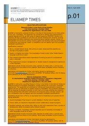 ELIAMEPTimes_March April 2009