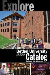 2013-2014 Catalog - College of Arts & Sciences - Bethel University
