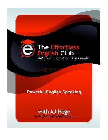 Powerfull English Speaking - XSpace