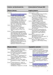 1 Literatur- und Quellverzeichnis Artensteckbriefe Thüringen 2009 ...