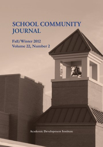 School Community Journal - Academic Development Institute