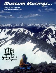 Spring 2011 - YMCA of the Rockies