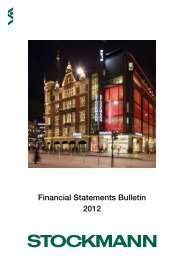 Financial Statements Bulletin 2012 - Stockmann Group