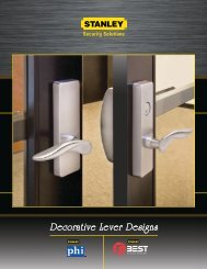 Decorative Lever Designs - DH Pace