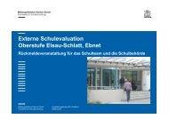 Externe Schulevaluation Oberstufe Elsau-Schlatt, Ebnet