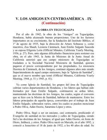 V. LOS AMIGOS EN CENTROAMÉRICA —IX ... - Instituto ALMA