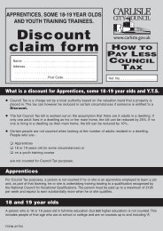 Application for Council Tax Discount - Apprentices, some 18-19 yr ...